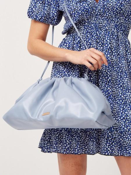 Σιελ faux-leather τσάντα με σούρες, όγκο και λεπτό κορδόνι Lynne