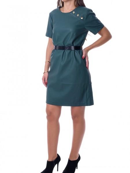 Κυπαρισσί μίνι φόρεμα leather look Lynne