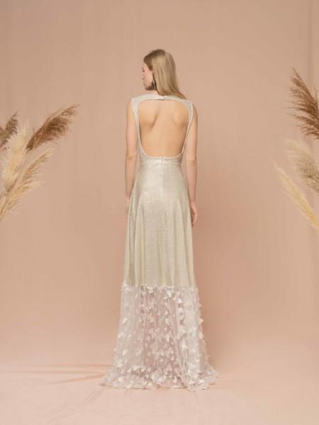 Ασημί LEIA maxi φόρεμα Mya