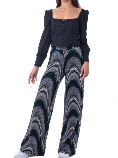Μαύρο κοντό πουκάμισο με τονισμένους ώμους και κουμπιά μπροστά Hype