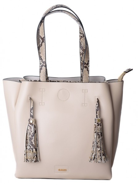 Nude τσάντα ώμου με animal print λεπτομέρειες Gaudi