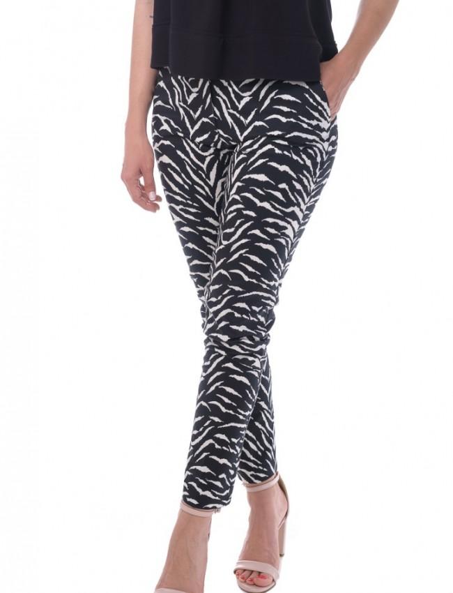 Animal print ψηλόμεσο παντελόνι με τσέπες Vener