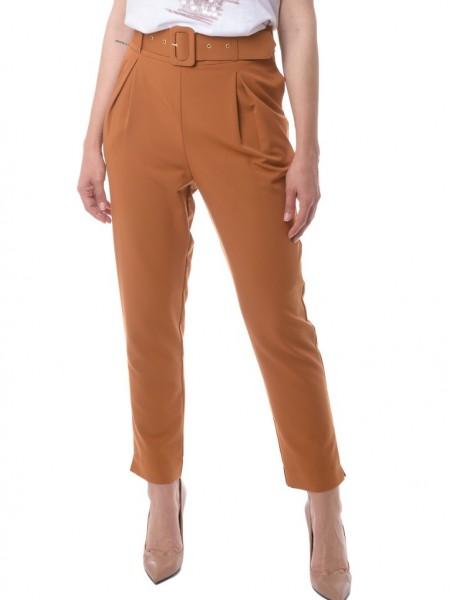 Ταμπά ψηλόμεσο παντελόνι loose fit με ζώνη White22